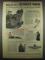 1952 Timken Roller Bearing Company Ad - Mechanized Farming