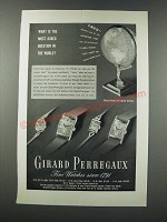 1949 Girard Perregaux Watches Ad - Most Asked Question in the World