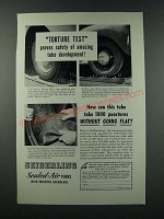 1949 Seiberling Sealed-Air Tubes Ad - Torture Test