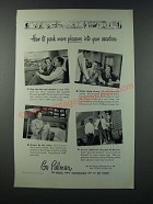 1949 Pullman Railroad Car Ad - How to Pack More Pleasure into Your Vacation