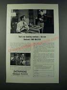 1949 Dictaphone Time-Master Dictating Machine Ad - My Traveling Secretary