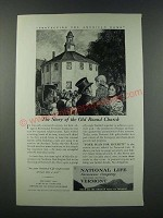1949 National Life Insurance Company Ad - The Story of the Old Round Church