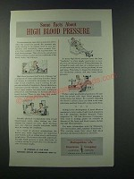 1949 Metropolitan Life Insurance Company Ad - High Blood Pressure