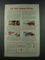 1949 Metropolitan Life Insurance Company Ad - For Safer Autumn Driving