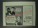 1949 Columbia Long Playing Records Ad - How Long Will it play?