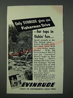 1949 Evinrude Fisherman Drive Outboard motor Ad - Tops in Fishin' Fun