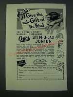 1949 Oster Stim-u-lax Junior Massage Instrument Ad - Only Gift Of Its Kind