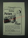 1949 Leica Camera Ad - Grandest Gift in the Holiday Picture