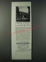 1948 Pennsylvania Tourism Ad - Through October's Carnival of Colors