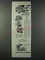 1948 Virginia Tourism Ad - Autumn in Virginia