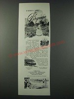1948 Virginia Tourism Ad - Garden Time in Virginia