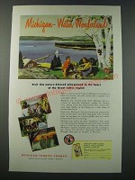 1948 Michigan Tourism Ad - Water Wonderland