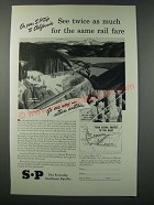 1948 Southern Pacific Railroad Ad - See Twice As Much For the Same Rail Fare