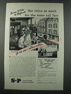 1948 Southern Pacific Railroad Ad - On Your Trip See Twice as Much