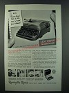 1948 Remington Rand Deluxe Portable Ad - Dear Dad