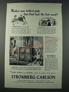 1948 Stromberg-Carlson Hepplewhite Radio-Phonograph Ad - Mother Tickled Pink
