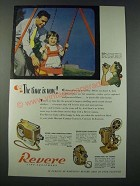 1948 Revere Cine Equipment Ad - 16mm Magazine Camera, Eight Projector