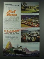 1948 Moore-McCormack Line Cruise Ad - The Vacation You Promised Yourself