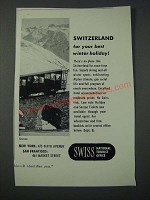 1948 Swiss National Tourist Office Ad - Best Winter Holiday