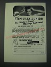 1948 Oster Stim-u-lax Junior Massage Instrument Ad
