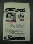 1948 Da-Lite Challenger Screen Ad - Your Stars Really Shine