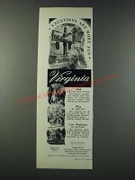 1947 Virginia Tourism Ad - Vacations are More Fun
