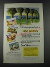 1947 San Diego California Ad - Cool Summer Days and Nights