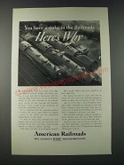1947 Association of American Railroads Ad - You Have a Stake in the Railroads