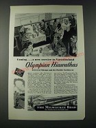 1947 Milwaukee Road Railroad Ad - Olympian Hiawathas
