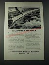 1947 Association of American Railroads Ad - 227,000-Mile Yardstick