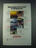 1978 Singapore Tourism Ad - Memories are Made in Singapore