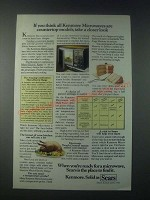 1978 Sears Kenmore Microwave Ad - Take a Closer Look