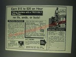 1978 Garden Way Troy-Bilt Roto Tiller Ad - Earn $15 to $20 an Hour