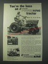 1978 Economy Power King Tractor Ad - You're the Boss