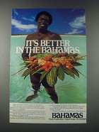 1977 Bahamas Tourism Ad - Better in the Bahamas