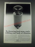 1977 Roche Vitamins Ad - By Throwing Food Away
