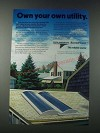 1977 Grumman Sunstream Solar Domestic Water Heating System Ad - Own Your Utility