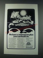 1977 Farmers Insurance Group Ad - We Have a Retirement Plan You Can Bank On