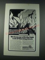 1977 Farmers Insurance Group Ad - We Keep Up with High Cost of Burning Down