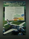 1977 Beechcraft Baron 58 Plane Ad - Sure to Get You Packing Your Bags