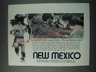 1977 New Mexico Tourism Ad - A Beautiful and Varied Land
