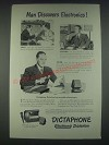 1947 Dictaphone Model AE Dictation Machine Ad - Man Discovers Electronics
