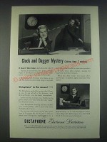 1947 Dictaphone Dictation Machine Ad - Clock and Dagger Mystery