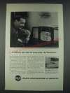 1947 RCA Laboratories Ad - A Referee's Eye View of Every Play by Television