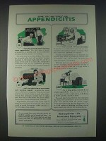 1947 Metropolitan Life Insurance Ad - Some Dos and Don'ts for Appendicitis