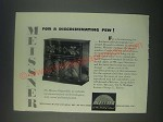 1947 Meissner Chippendale Radio Phonograph Ad - For a Discriminating Few