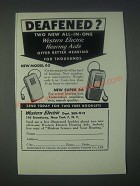 1947 Western Electric Hearing Aids Ad - Model 65 and Super 66
