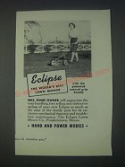 1947 Eclipse Lawn Mower Ad - The World's Best Lawn Mower