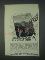 1947 Department of Conservation Tennesse Ad - Scenic Highlights