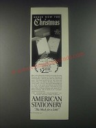 1946 American Stationery Ad - Order Now For Christmas